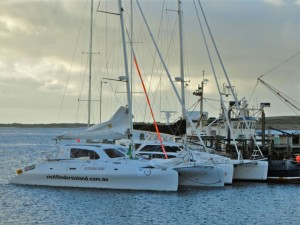 Visit Fliners Island yacht at Lady Barron Wharf